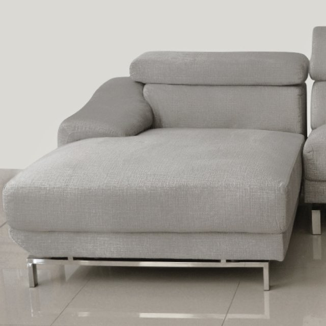 GUCCI/LGL  /  GUCCI/LGR   Sillon Gucci light grey left corner / Sillon Gucci light grey right corner - comprar online