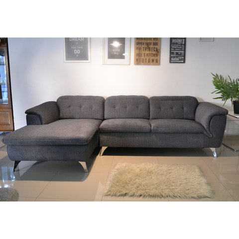 CHARLY/DGL  /  CHARLY/DGR   Sillon Charly dark grey left corner / Sillon Charly dark grey right corner