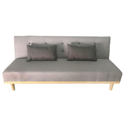 MANTRA/LG Sofa Bed Mantra light grey dark grey buttons