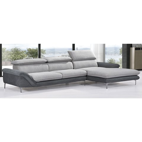 MUMA/LGR  /  MUMA/LGL     Sillon Muma light grey + dark grey right corner / Sillon Muma light grey + dark grey left corner