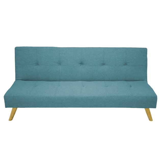 NAPA/LB Sofa-bed Napa Tela Light Blue base madera