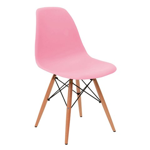 PC-016/PW Silla Eames Pink Base Madera