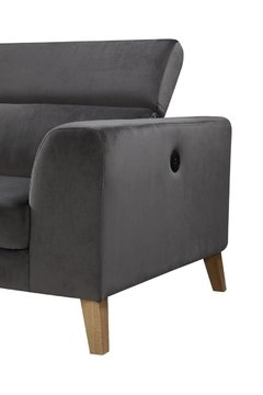 SILLON GINO DARK GREY LEFT CORNER GINO/DGL en internet