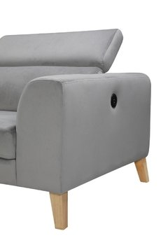 SILLON GINO LIGHT GREY LEFT CORNER  GINO/LGL en internet