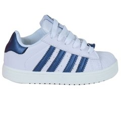 Zapatillas Infantil Clasicas Blanco Azul Proforce (03252)