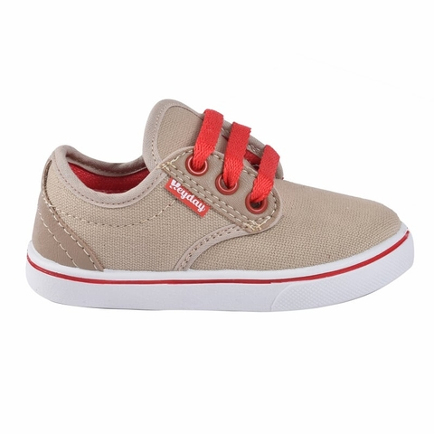 Zapatillas Kids Beige-Rojo Hey Day (20322)