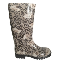 Botas de Lluvia Larga Dama Animal Print Beige Proforce (62004)