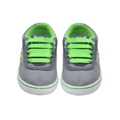 Zapatillas Kids Gris-Verde Hey Day (30403) - AL COSTO CALZADO