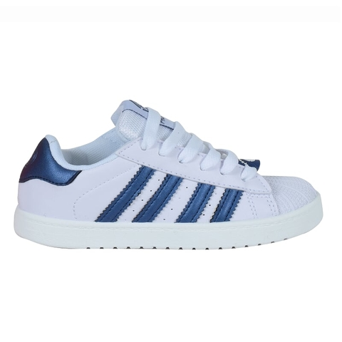 Zapatillas Adulto Clasicas Blanco Azul Proforce (50002)