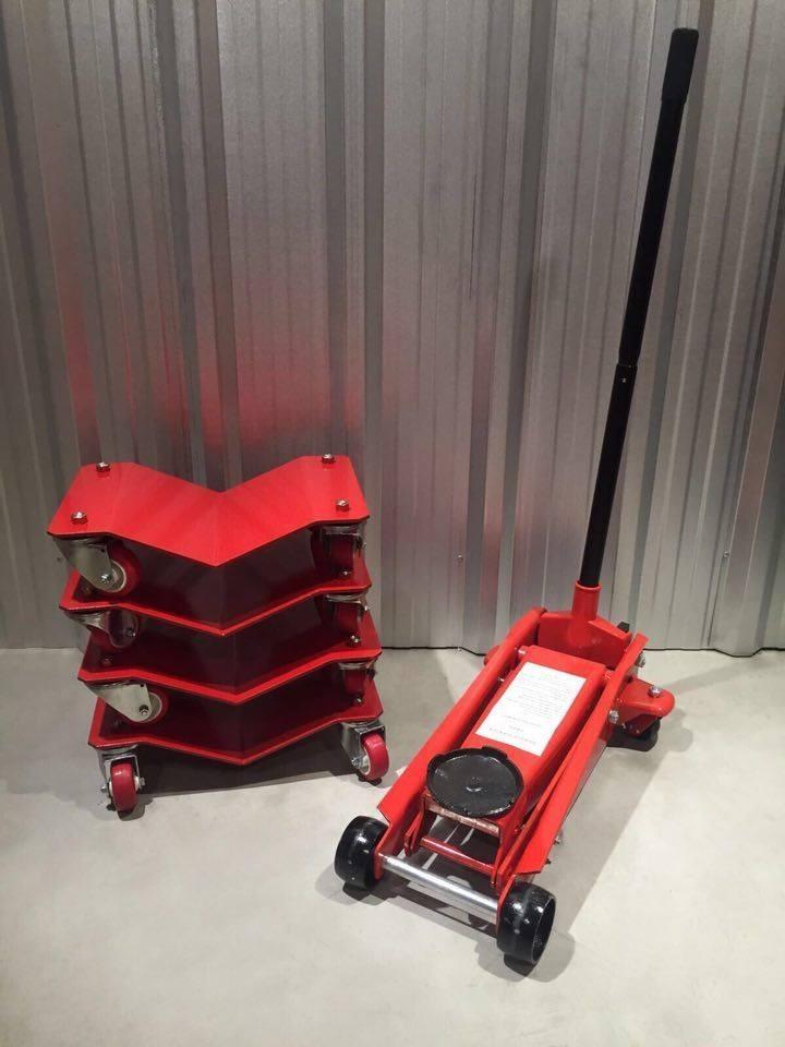 Carros (dollies) para automóviles  + crique 3 ton.