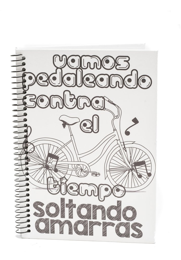 Cuaderno Tapa Dura Blanco Frases Para Elegir