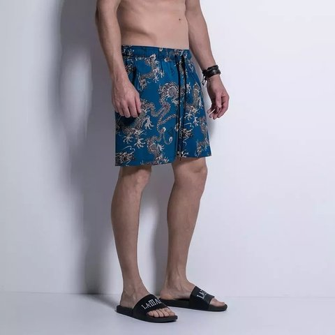 SHORTS SIDE BEACH BLUE DRAGONS - Código: HBE12725 - LaMafia - comprar online