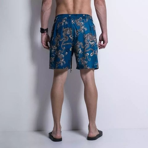 SHORTS SIDE BEACH BLUE DRAGONS - Código: HBE12725 - LaMafia - F5 Fitness