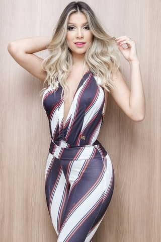 BODY MAXI DECOTE ESTAMPA DIAGONAL COLOR MARIA GUEIXA