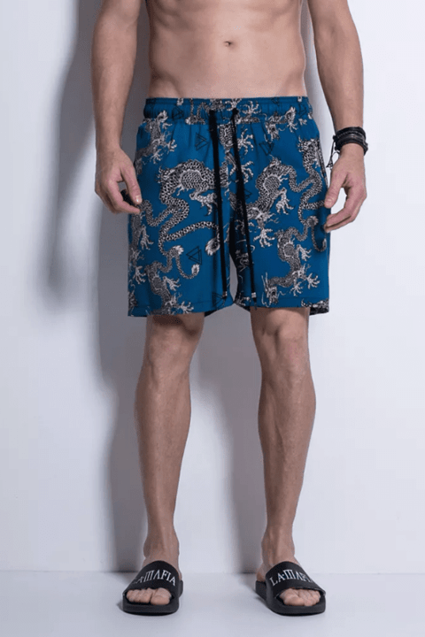 SHORTS SIDE BEACH BLUE DRAGONS - Código: HBE12725 - LaMafia