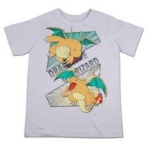 Camiseta Juvenil Pokémon - Charizard e Dragonite