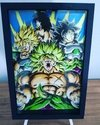 Quadro decorativo 3D A4 Dragon Ball Sayajin