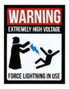 Placa - Force Lightning in use