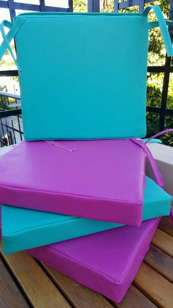 Almohadones para sillas de eco cuero almacen bohemio - Almohadones para sillas ...