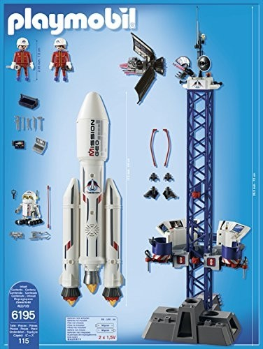 Cohete Espacial con Base Estación Playmobil (6195) en internet