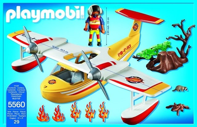 Avión Extinguidor de Incendios Playmobil (5560) en internet