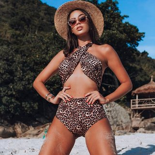 Body maiô Bikini Animal print
