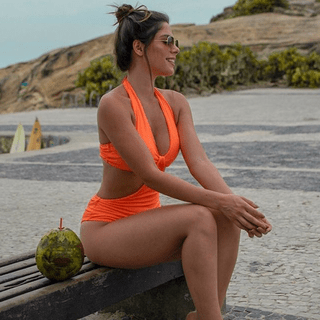 Body Maiô Mesh Orange Split - comprar online