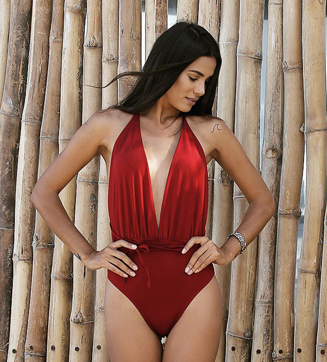 Body Maiô Stripes Rouge - comprar online