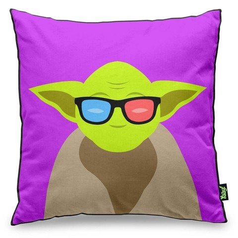 Almofada Geek Side Mestre Yoda Star Wars 40x40cm