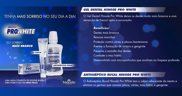 Kit Gel Dental, Antisséptico Bucal Pro White Hinode - comprar online