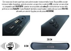 Caixa Som BT-13 Bluetooth Portatil Galaxy Android Notebook P2 E68