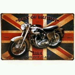 Placa decorativa vintage British