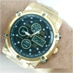 Relogio Tech Mariner original dourado