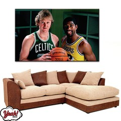 CUADRO DE LONA RECTANGULAR LARRY BIRD #11
