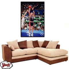 CUADRO DE LONA RECTANGULAR LARRY BIRD #13