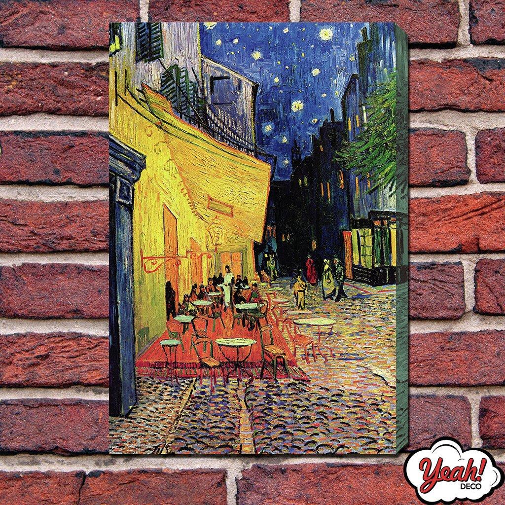 Cuadro Impreso Terraza De Cafe Por La Noche Codigo 26