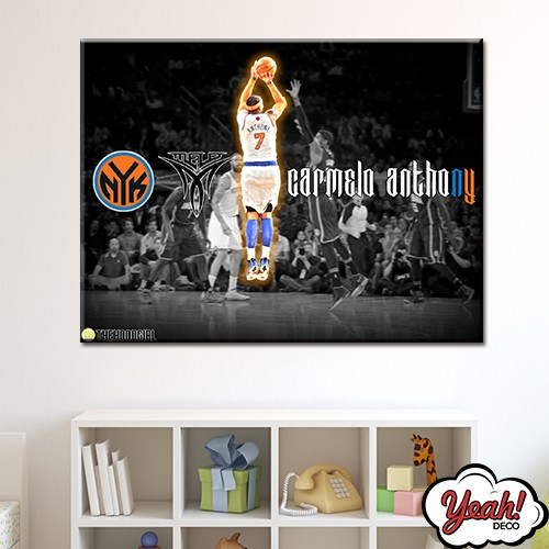 CUADRO DE LONA RECTANGULAR CARMELO ANTHONY #5