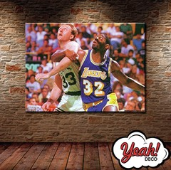 CUADRO DE LONA RECTANGULAR MAGIC JOHNSON #6