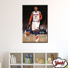 CUADRO DE LONA RECTANGULAR CARMELO ANTHONY # 6