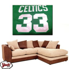 CUADRO DE LONA RECTANGULAR LARRY BIRD #7