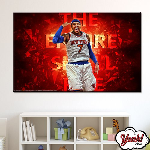 CUADRO DE LONA RECTANGULAR CARMELO ANTHONY # 9