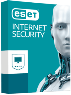 BLACK ESET Internet Security - 2020 - 1 Ano 1PC
