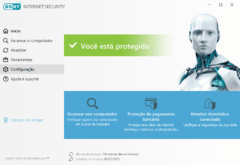 BLACK ESET Internet Security - 2020 - 1 Ano 1PC na internet