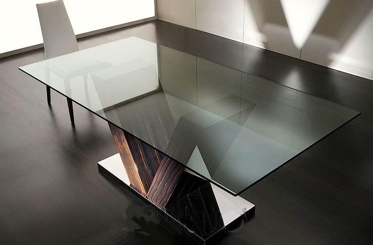 Mesa comedor vidrio super moderna by costantini pietro for Mesas de comedor de vidrio modernas