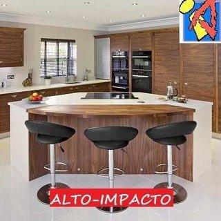 Banqueta Taburete Regulable Desayunador Mod Belle Tapizada - ALTO IMPACTO Home + Office