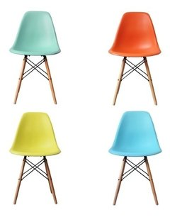 Set 4 Sillas Eames Dsw Colores Super Promo P - Alto Impacto-