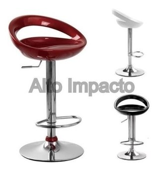 Banqueta Taburete Regulable Desayunador Cromado Modelo Belle - ALTO IMPACTO Home + Office