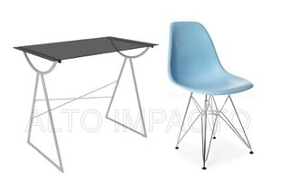 Escritorio Moderno Pc + Silla Dsr Eames Color A Eleccion - ALTO IMPACTO Home + Office