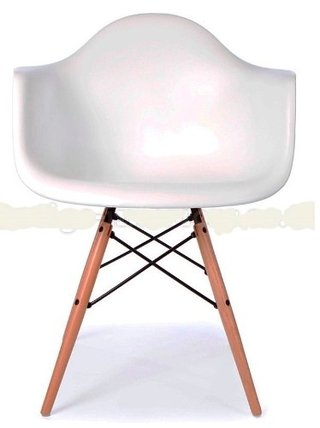 Sillon Eames X 4 Unidades Daw Abs Base Madera Blanco - ALTO IMPACTO Home + Office