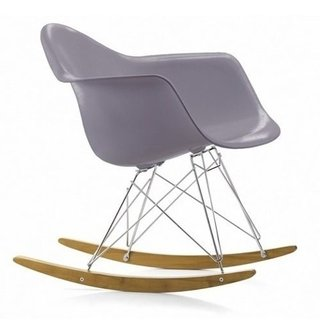 Silla Sillon Mecedora Rocking Chair Charles Eames V Colores